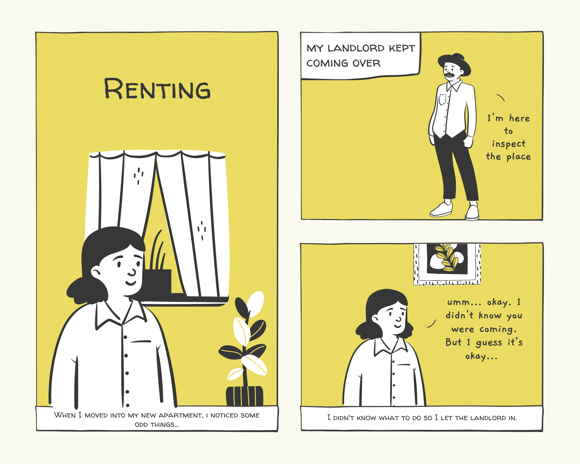 Tenancy comic - page one